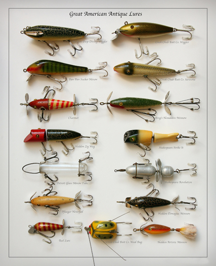 Antique fishing tackle antique lures autos post for Old fishing rods worth money